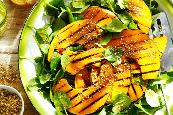 Try these barbecued pumpkin wedges on spinach salad for a healthy & delicious side.
