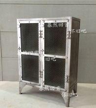 Чердак французский стиль мебель, Винтаж промышленного утюг утюг сетки для хранения шкафчик сторона книжный шкаф(China (Mainland))