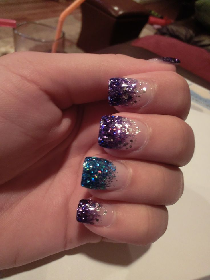 UV Glitter Gel Nails that I CANNOT live without <3
