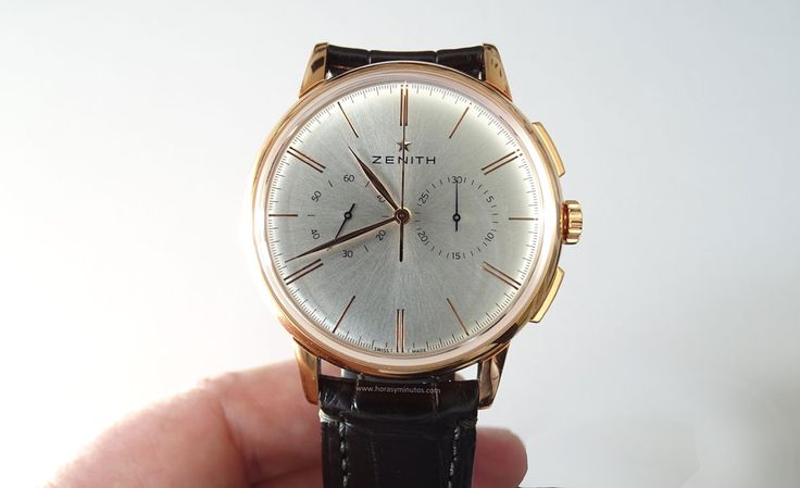 Zenith Elite Chronograph Classic oro rosa frontal