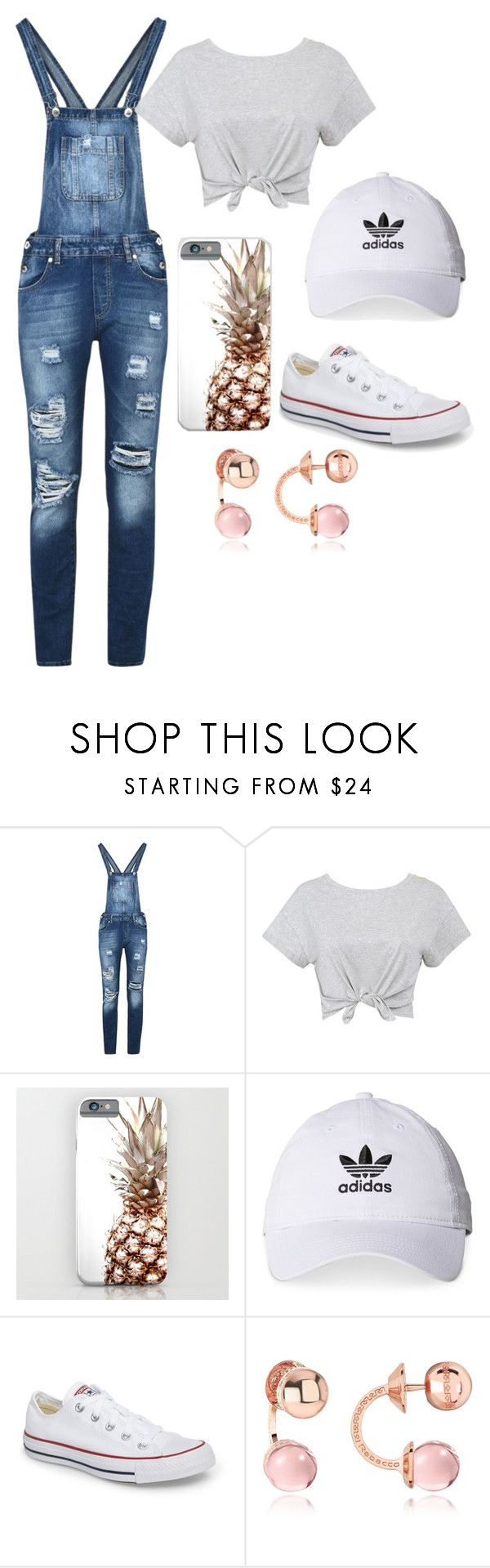 """""""out in town"""" by shannon-tilley on Polyvore featuring George J. Love, adidas, Converse and Rebecca"""