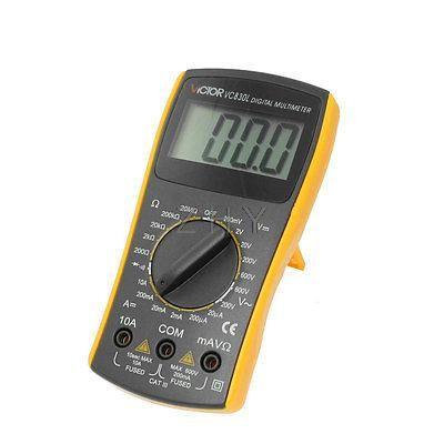 $21.25 (Buy here: https://alitems.com/g/1e8d114494ebda23ff8b16525dc3e8/?i=5&ulp=https%3A%2F%2Fwww.aliexpress.com%2Fitem%2FBlack-Yellow-VC830L-Volt-Ampere-Ohm-Meter-Digital-Multimeter-w-2-Test-Leads%2F32692832689.html ) Black Yellow VC830L Volt Ampere Ohm Meter Digital Multimeter w 2 Test Leads for just $21.25