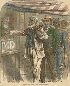 Waud - 1867 - The First Vote - Fifteenth Amendment to the United States Constitution - Wikipedia