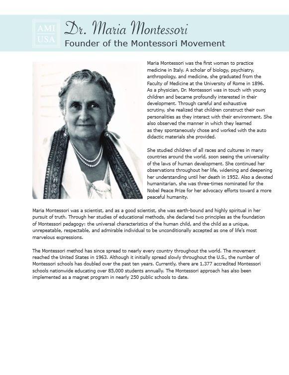 A biography of maria montessori an educational theorist