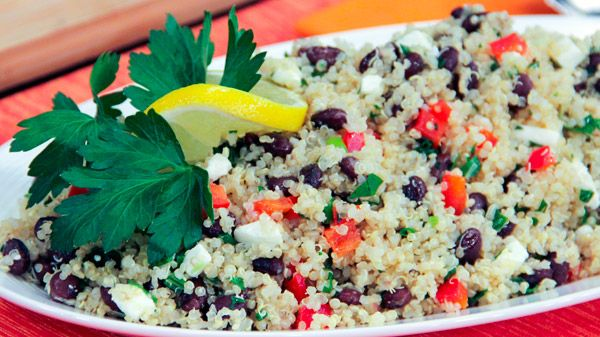 Chef Joshna shares this very versatile recipe that can easily be adapted to what you've got on hand and what is seasonally available. Serves 8 Ingredients 2 cups quinoa 4 ½ cups water ¾ tsp salt plus more for boiling...