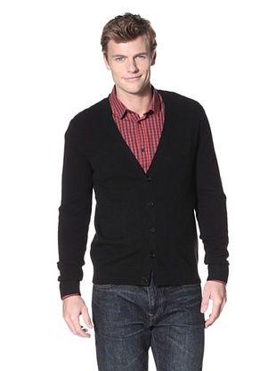 Christopher Fischer Men's Cashmere V-Neck Cardigan (Black)