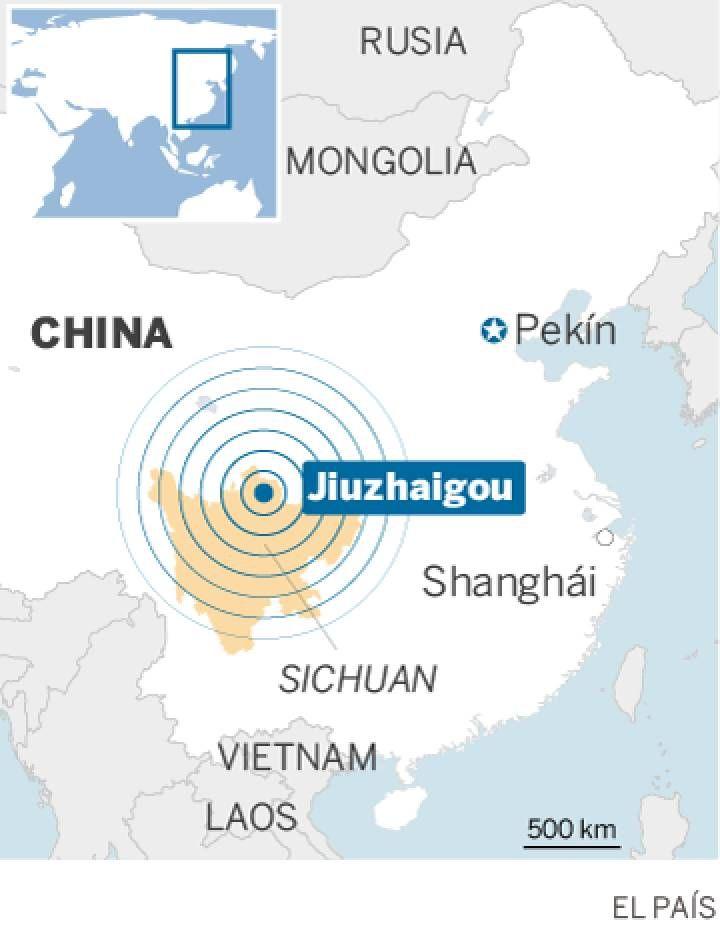 Thursday, Aug. 10, 2017: El terremoto de magnitud 6,5 que sacudió el martes la provincia china de Sichuan, situada en el suroeste del país, ha provocado la muerte de al menos 19 personas e hirió a 247 más, según informaron l…