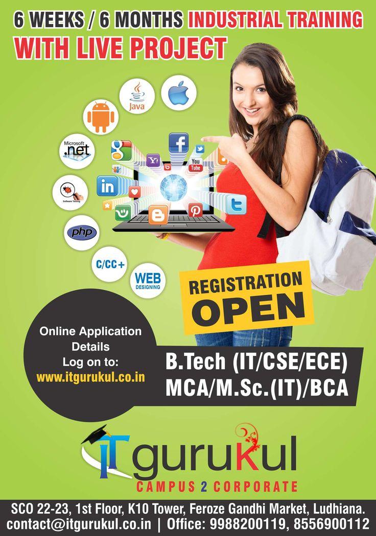 IT Gurukul offers six months industrial training institute located in Ludhiana and Delhi areas