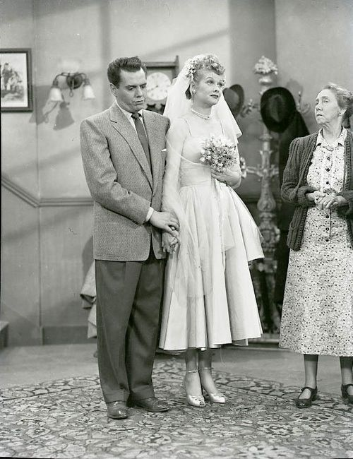 """Season 1, """"The Marriage License"""" Desi Arnaz, Lucille Ball and Elizabeth Patterson """"I LOVE LUCY"""""""