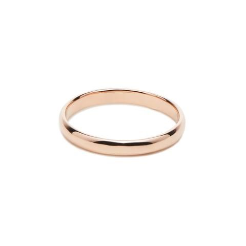 Alliance homme BAMBOU - Or rose 18 cts