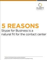    5 Reasons Skype for Business Is a Natural Fit for the Contact Center      PBX hardware for contact centers will be nearly vestigial in a few years – Skype for Business will be better for your contact center in the future, even if it doesn't look like the hardware you may be used to with phone wires sticking out of it