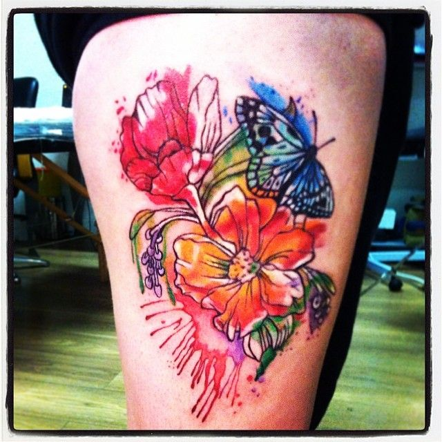 watercolour tattoo follow me here! https://www.facebook.com/loliinkoholiks?fref=ts