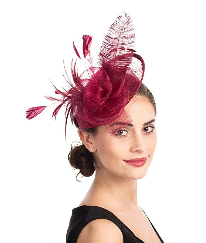 Women/'s Weeding Hats Fashion Feather Hat Cocktail Party Hat Hair Clip Headband