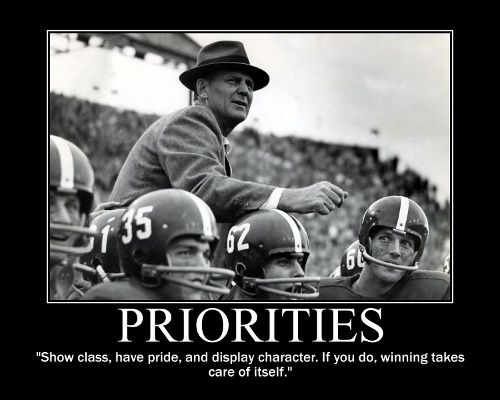 class, pride, and character -- bear bryant has some wise words. roll tide