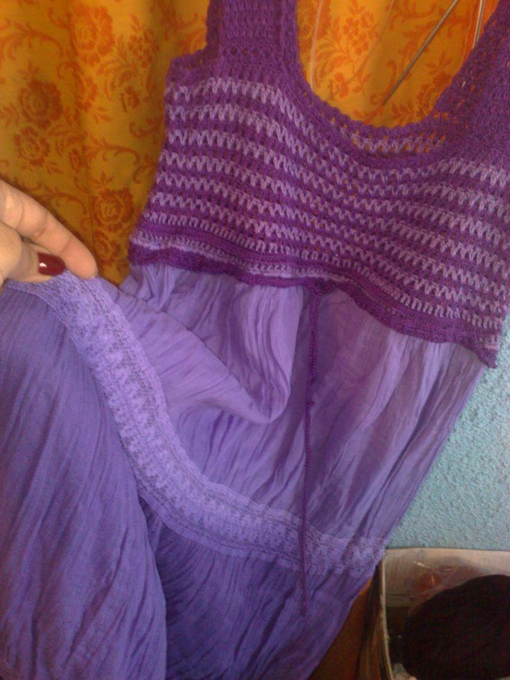 rochie cu corset crosetat manual