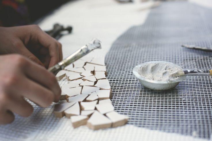 Układanie mozaiki podczas Strefy Konesera #strefakonesera