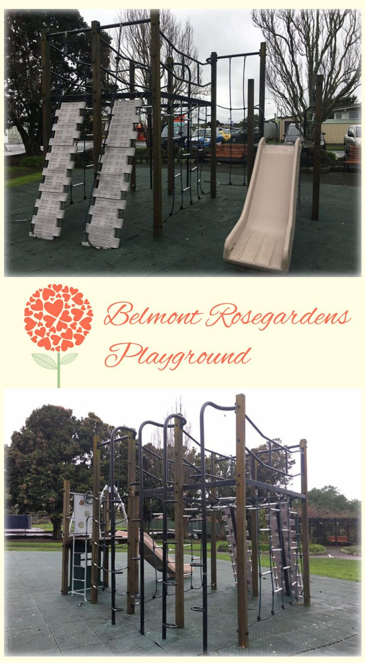 Belmont Rosegardens Playground Auckland: Great Little Playground with Lots of Climbing Opportunities. This is Right Next to a Sweet Little Rose Garden!