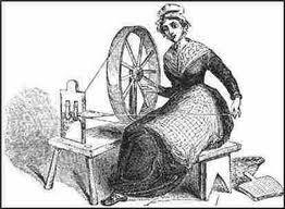La lanzadera automática de bobina fue creada en 1733 por J.Kay, que quería hallar una forma de lanzar la bobina de una forma que se ahorrara tiempo y pudiera fabricar piezas más anchas. Esto se aplicó en el sector algodonero.  Por Adriana Aranguren Alonso.