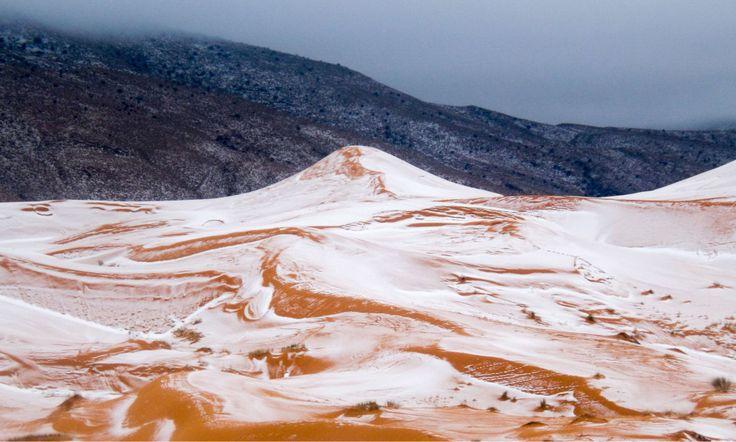 <div><br></div><div>SNØ: Snø er noe man sjeldent ser i verdens største varmeste ørken. Foto: Photography / rex / shutterstock / NTB Scanpix</div>