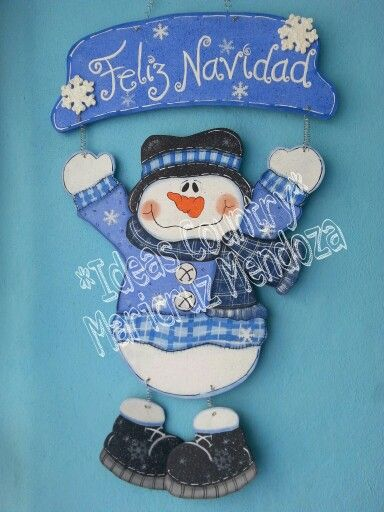 Colgante de navidad  snowman
