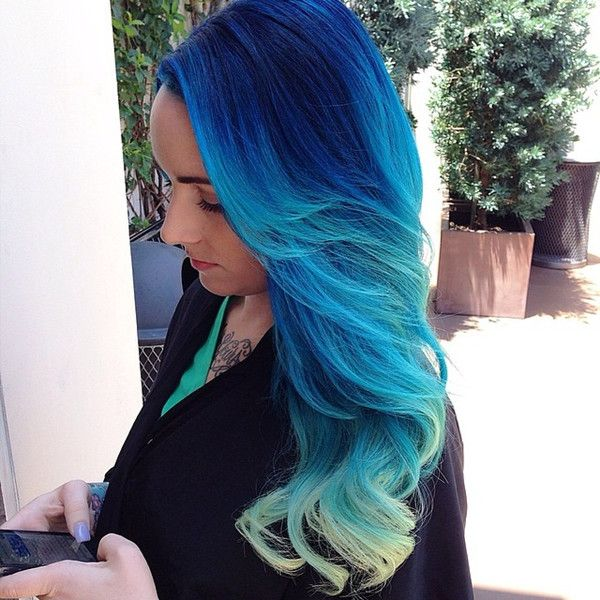 How To Dye Your Hair Ombre Style At Home 1353 Best Colors Images On Pinterest  Colourful Hair Coloured .