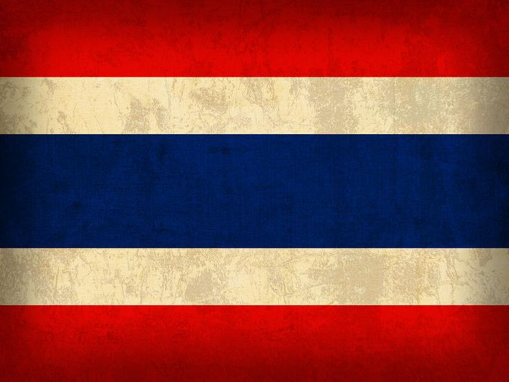 Thailand Flag Vintage Distressed Finish Mixed Media