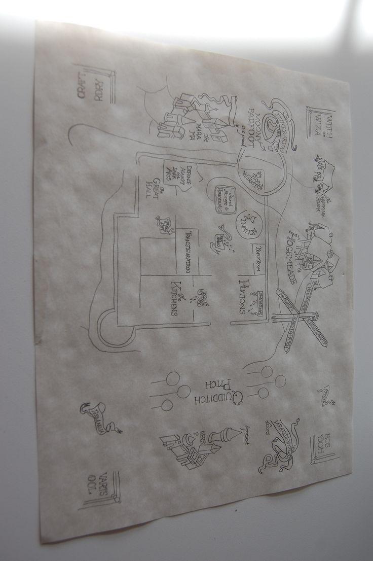 Hogwarts map invitation