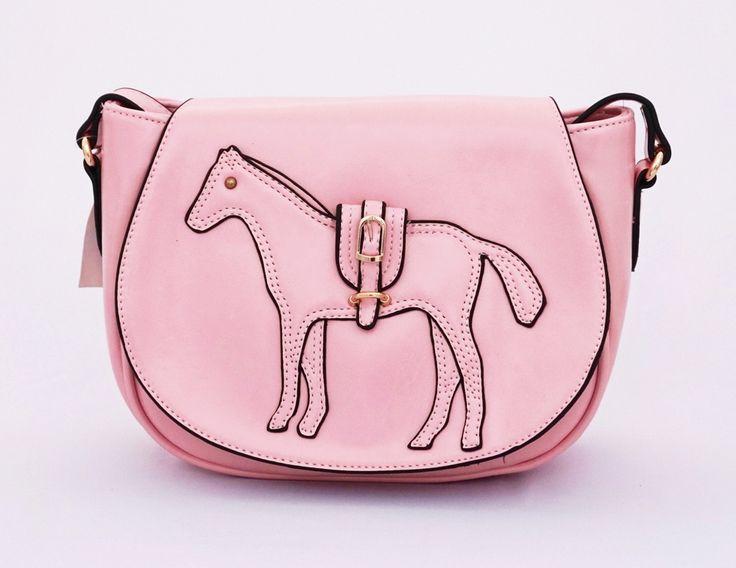 Celin horse korean style. Fashionable. Tali panjang selempang. Good quality. Warna pink. Uk 24x9x18