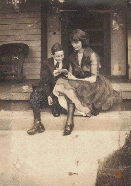 Dorothy and Pat Patterson . About 1920.