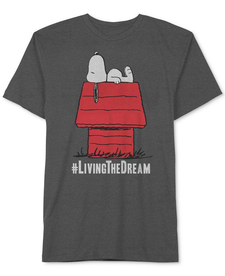 Jem Peanuts Snoopy #Living the Dream Big & Tall T-Shirt - T-Shirts - Men - Macy's