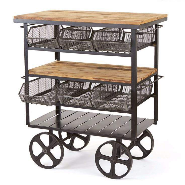 This beautifully designed Delicatessen Cart has wooden tables with metal for that added look and support. This cart can be used in the meat, produce, fish or th