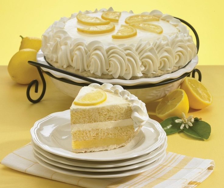 Luscious Lemon Cake Pie The Marie Callender S Spring 2017 Featured