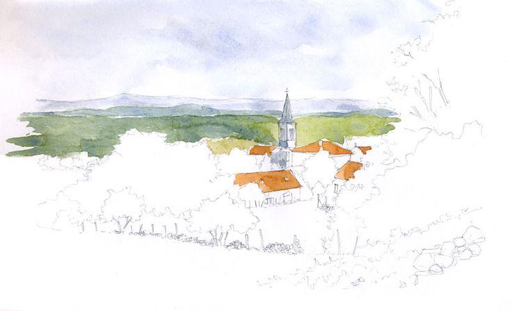 Randocroquis - Comment peindre un paysage à l'aquarelle