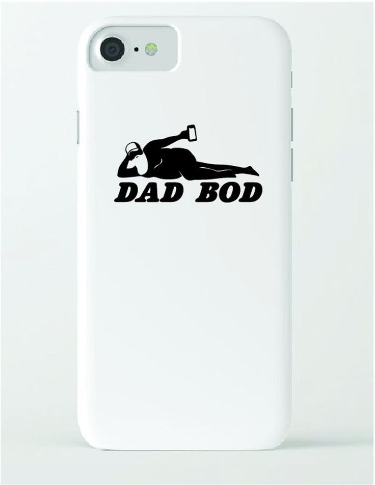 Dad bod sticker silhouette decal design funny car decals