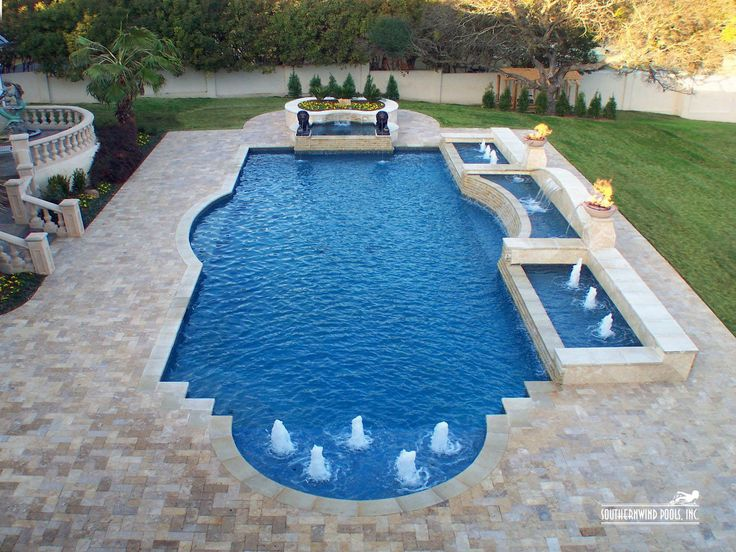 82 best geometric pool designs images on pinterest pool for Grecian pool dimensions