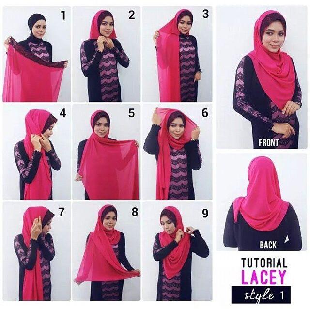 Lace shawl tutorial #hijabtutorial #stepbystep