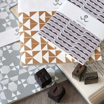 #Geometric designs Esme Winter Iznar Recycled Paper Pads / Rowen and Wren