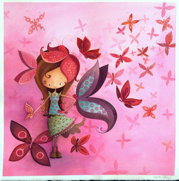 La fille papillon Ketto's butterlfy girl by Ketto Design, via Flickr