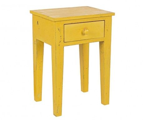 Masuta cu 1 sertar Margot Yellow