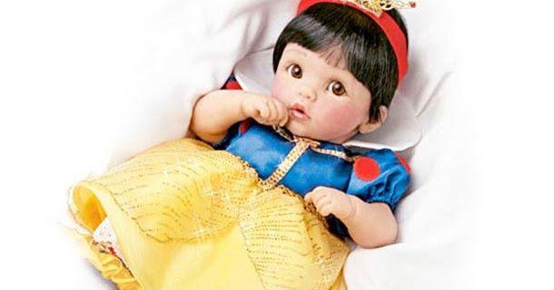 Bebês bonecas das Princesas da Disney produzido e vendido pela Ashton-Drake Galleries. Bonecas da Disney realistas que alguns acham adorável...