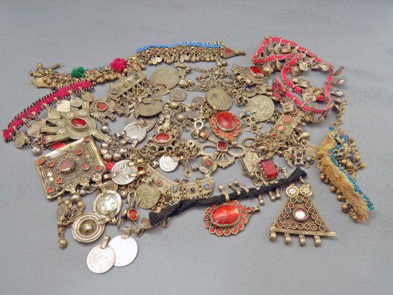 Vintage Kuchi Broken Tribal Jewelry Parts Mixed 500 by UberKuchi, $37.50