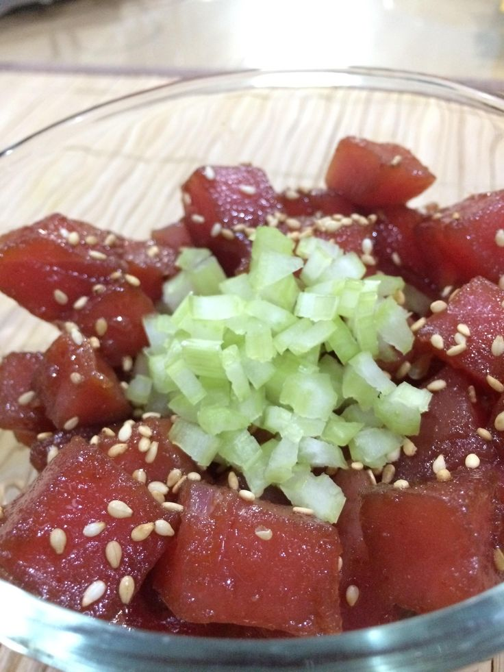 Spicy raw tuna