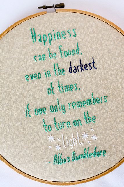Love the idea of a quote stitched into an embroidery hoop!
