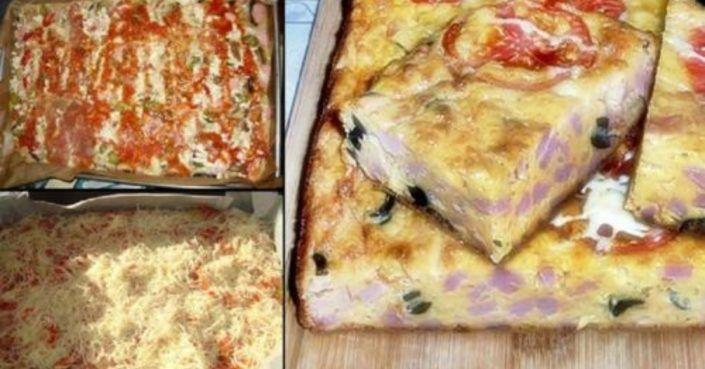 Ilyen könnyű pizzát készíteni, nem kell tésztát gyúrni, az íze mégis fenséges!