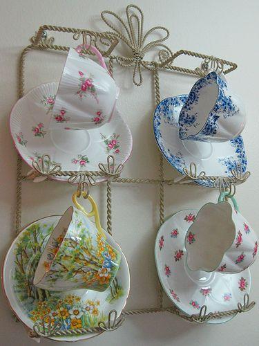 cute tea cup holder