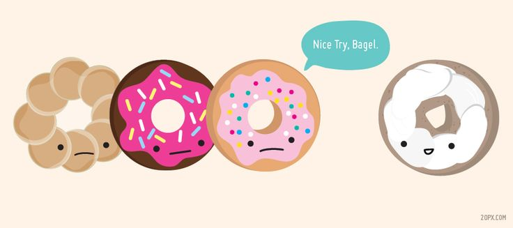 Donut Nice Try Bagel Random Pinterest Cute Donuts