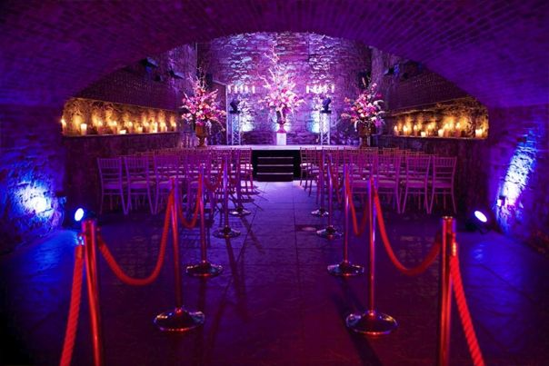 Unique and Alternative Wedding Venues Scotland - The Caves Edinburgh