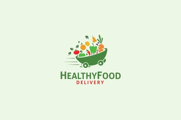Healthy Food Delivery ~ Logo Templates on Creative Market
