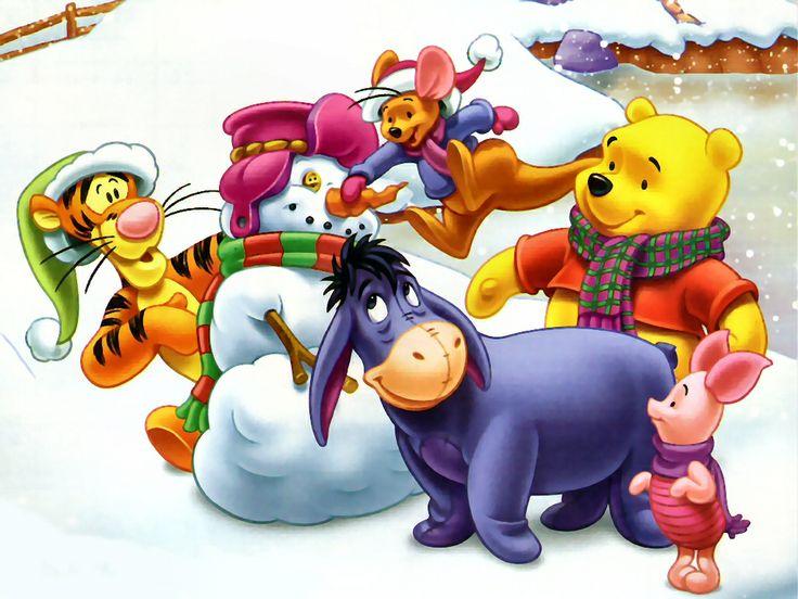 Winter Winnie the pooh