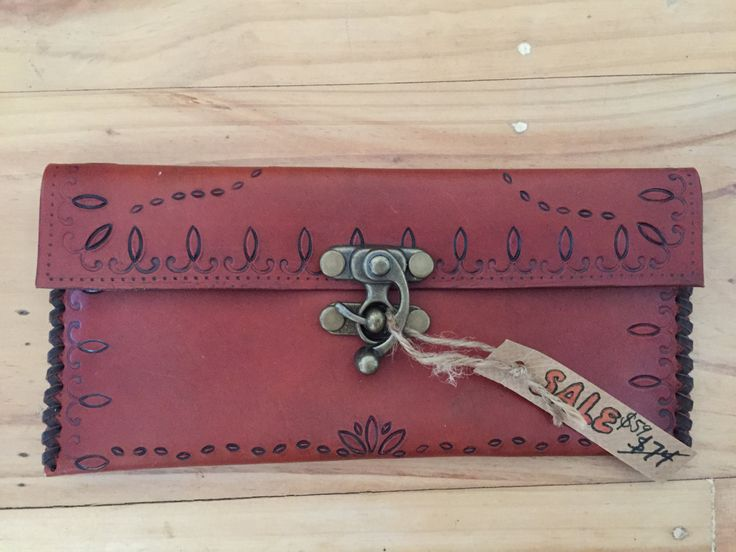 End of year SALE! 25% off hand stamped leather clutch! by BethNewtonHandmade on Etsy